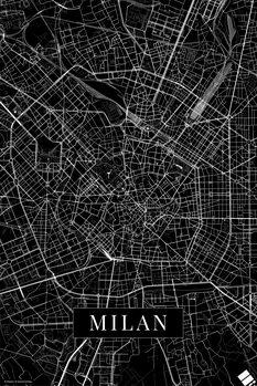 Mapa Milan_black