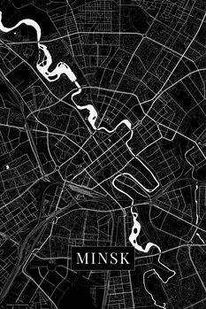 Mapa Minsk black