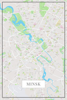 Mapa Minsk color