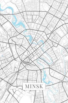 Mapa Minsk white
