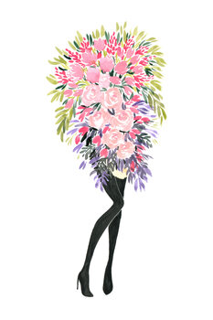 Ilustrace Miss bouquet 2