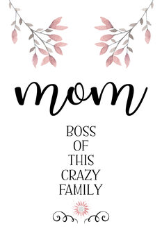 Illustration MOM Boss of this crazy family