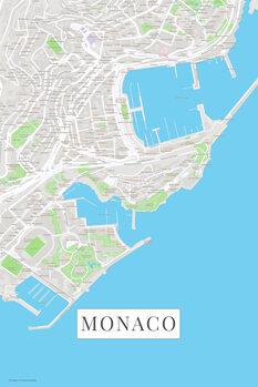 Stadtkarte Monaco color