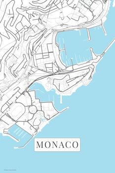 Stadtkarte Monaco white