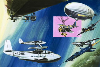 Stampa artistica Montage of aerial aircraft carriers