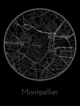 Mapa Montpellier