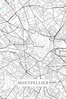 Mapa Montpellier white