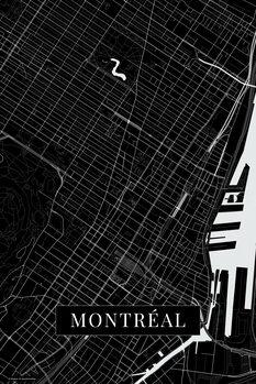 Mapa Montreal black