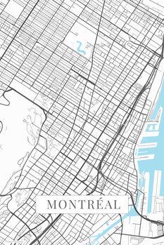 Mapa Montreal white