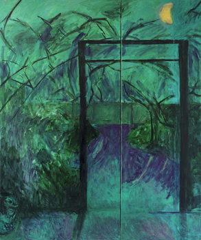 Obrazová reprodukce  Moonlit Garden, 2014,