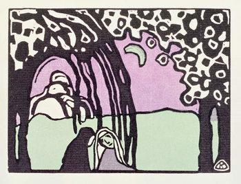 Εκτύπωση έργου τέχνης Moonrise, from 'Der Blaue Reiter', 1911
