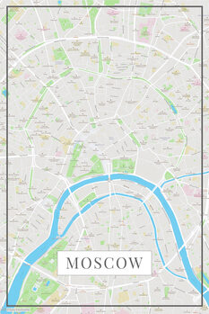 Mapa Moscow color