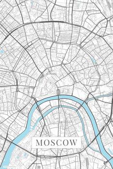 Mapa Moscow white