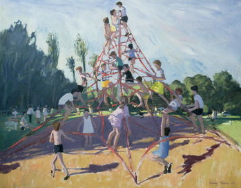 Mundy Playground, Markeaton;Derby, 1990 Kunstdruck