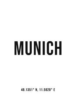 Ilustrace Munich simple coordinates