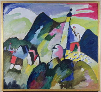 Murnau with Church II, 1910 Kunsttryk