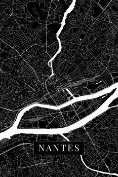 Mapa Nantes black
