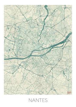 Zemljevid Nantes