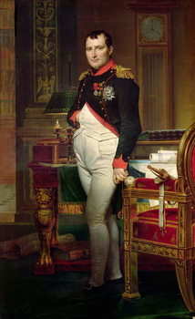 Napoleon Bonaparte in his Study at the Tuileries, 1812 Kunsttryk