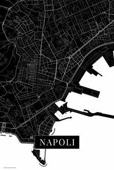 Mapa Napoli black