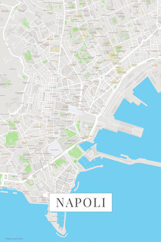 Mapa Napoli color