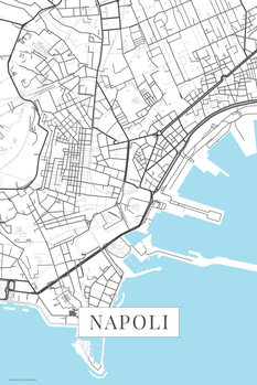 Mapa Napoli white