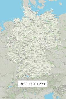 Mapa Německo color