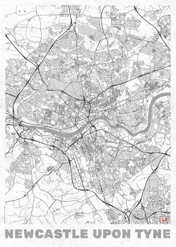 Mapa Newcastle Upon Tyne