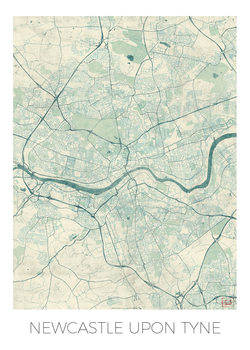 Mapa Newcastle Upon Tyne