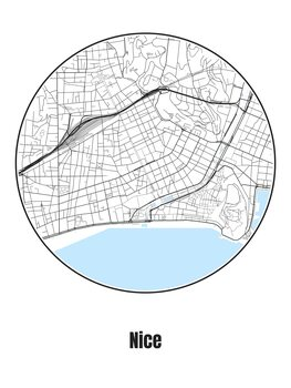 Kaart van Nice