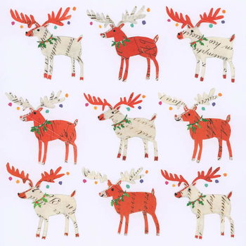 Nine Document Reindeer Obrazová reprodukcia