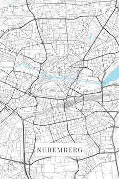 Mapa Nuremberg white