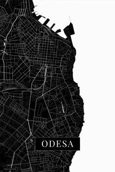 Mapa Oděsa black
