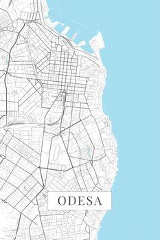 Mapa Oděsa white