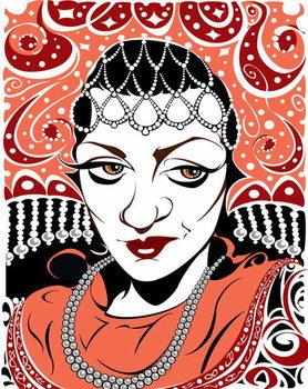 Reprodukcija umjetnosti Olga Borodina, Russian mezzo-soprano, colour version of b/w file image