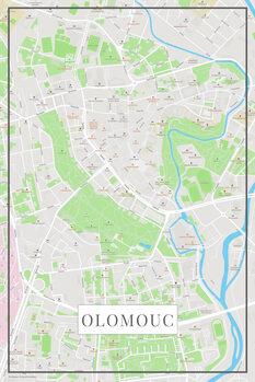 Mapa Olomouc color