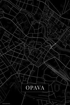 Mapa Opava black