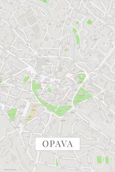 Mapa Opava color