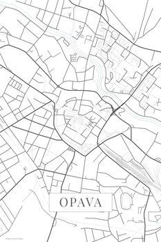 Mapa Opava white