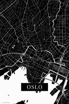 Mapa Oslo black