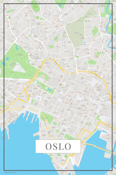 Mapa Oslo color