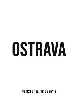 Ilustrace Ostrava simple coordinates