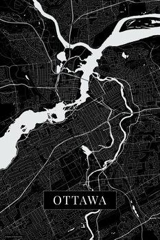 Mapa Ottawa black