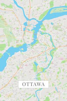 Mapa Ottawa color
