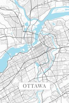 Mapa Ottawa white