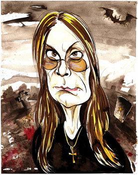 Reprodukcija umjetnosti Ozzy Osbourne - colour caricature