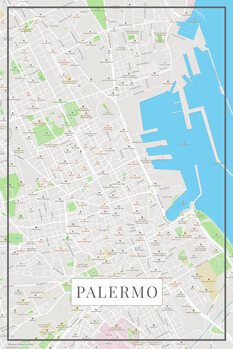 Mapa Palermo color