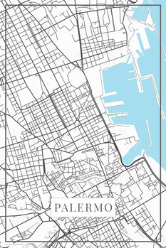 Mapa Palermo white