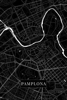 Mapa Pamplona black