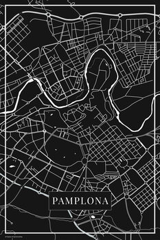Mapa Pamplona black